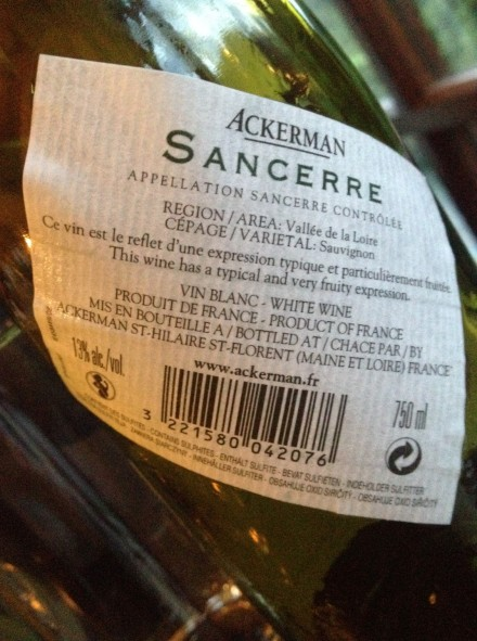 Ackerman Sancerre 2012 R